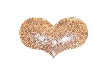 1piece x 85mm*55mm*5mm  Acrylic bling heart flat back champagne colour -- heart shape -- 5000022